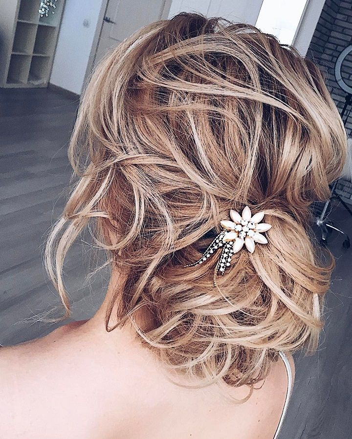 Wedding Hairstyle For Long Hair This Gorgeous Messy Updo Wedding