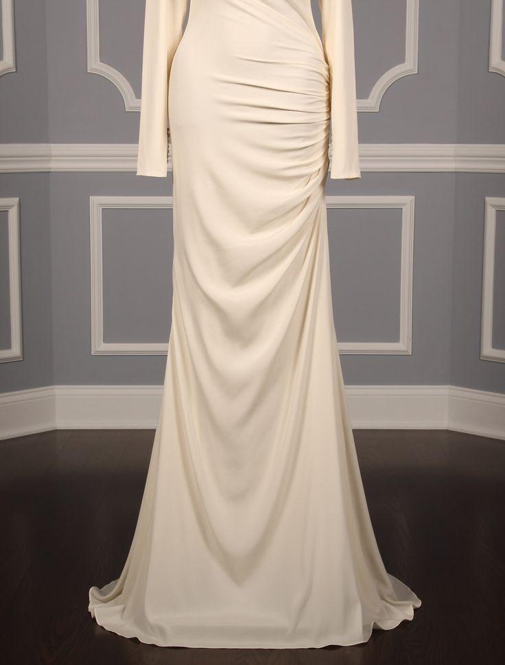 Sheath wedding dress anne barge colmar discount designer for Cheap modern wedding dresses