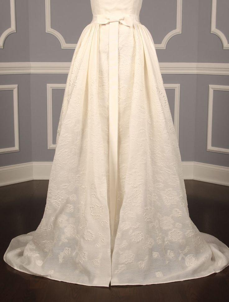 Sheath wedding dress carolina herrera catherine 32521 for Designer wedding dresses at discount prices