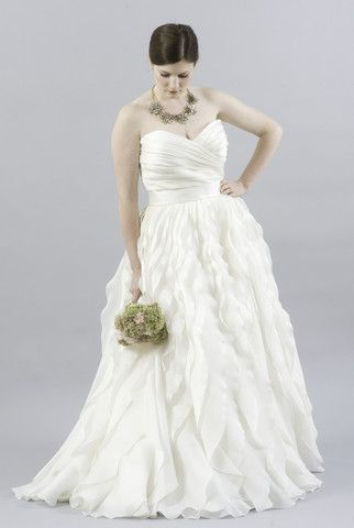 Ball gown wedding dresses monique lhuillier winter for Nearly new wedding dresses