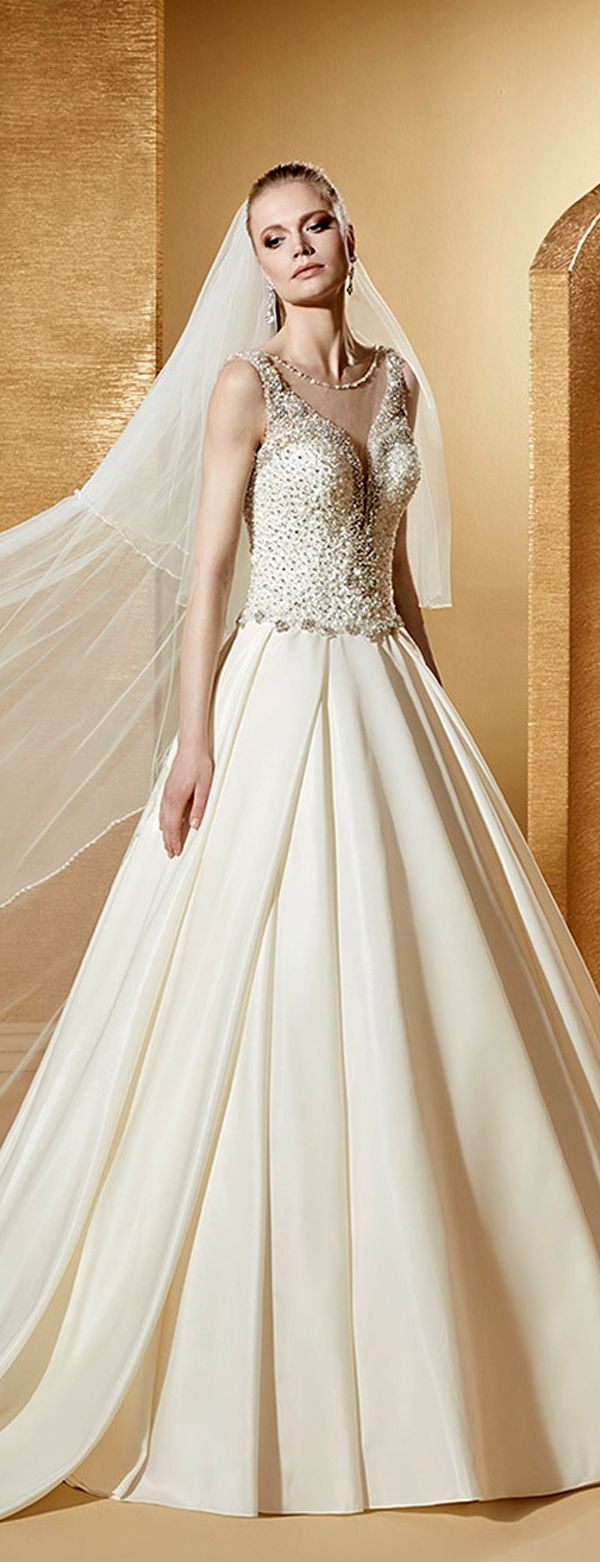 Best A-line Wedding Dresses : Shining Tulle & Satin Scoop Neckline A-Line Wedding Dresses With ...
