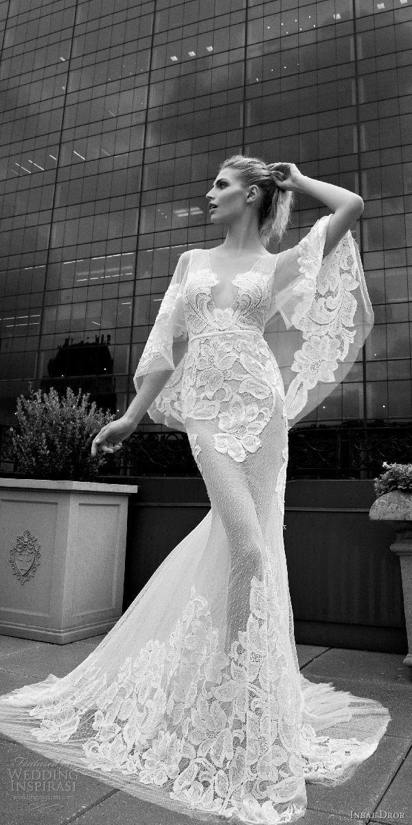 Sheath wedding dress inbal dror fall wedding dresses for Wedding dress preservation nyc