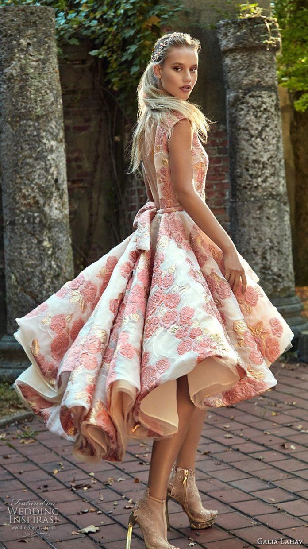 Short and tea length wedding dresses galia lahav fall for Short couture wedding dresses