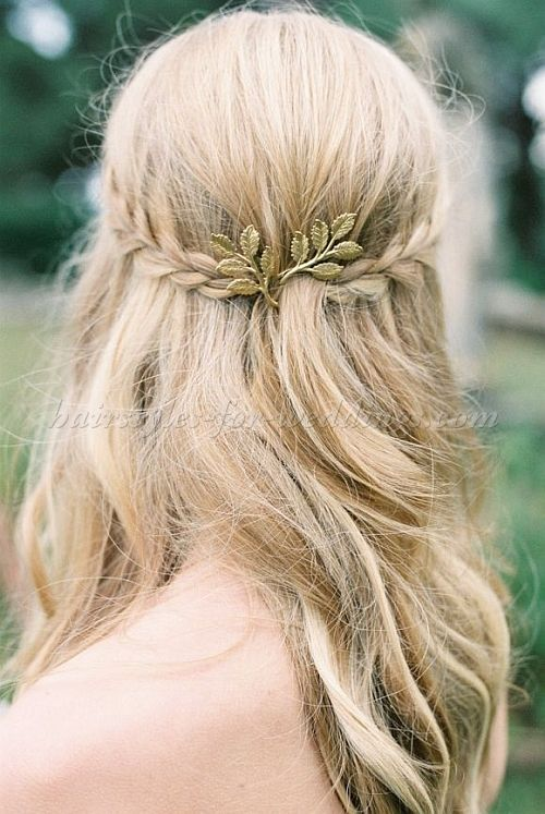 Hair Down Wedding Hairstyles Wedding Hairstyles For Long Hair Hair Down Bridal Hairstyle With Braid Wedding Lande Leading Wedding Magazine Ideas Inspirations The Hottest New Wedding Trends