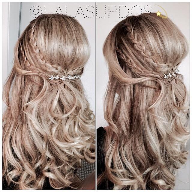 Wedding Hairstyle For Long Hair Half Up Half Down Braided Wedding