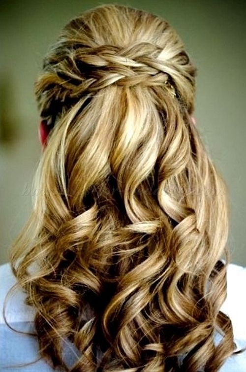 Wedding Hairstyle For Long Hair : half up half down wedding ...
