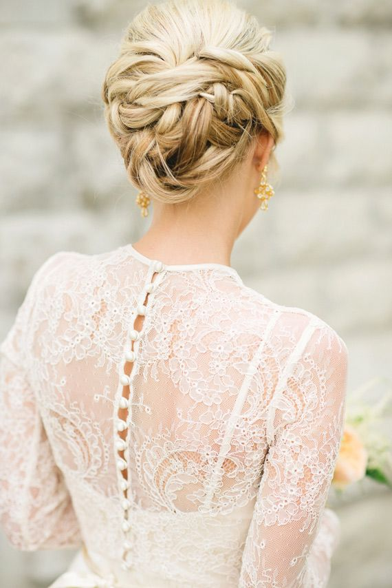 Wedding Hairstyle For Long Hair Intimate Garden Wedding