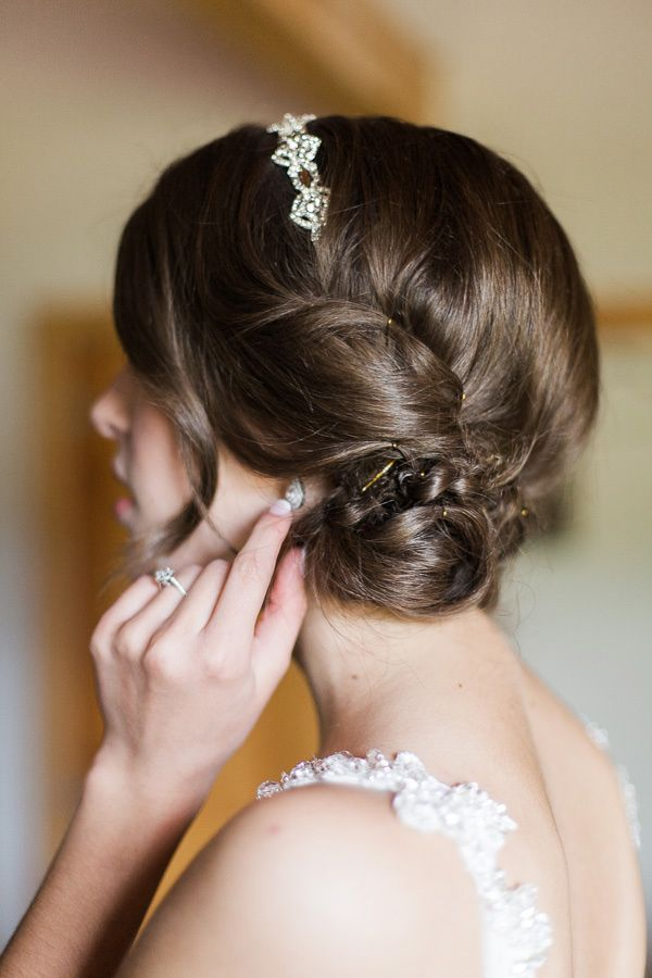 Wedding Hairstyle For Long Hair : Messy side bun wedding hair ...
