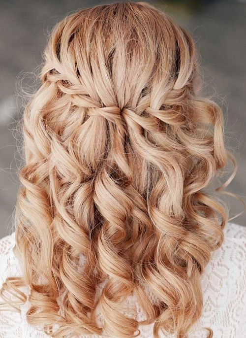 Wedding Hairstyle For Long Hair Waterfall Braid Wedding Hairstyle Wedding Lande Leading Wedding Magazine Ideas Inspirations The Hottest New Wedding Trends