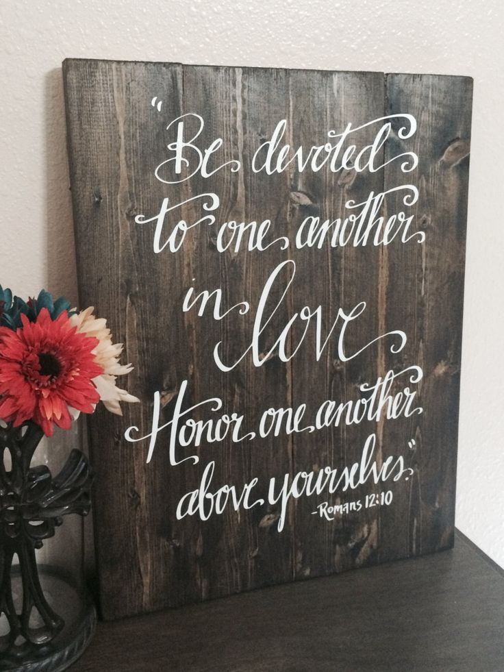 Wedding quotes wedding sign bible verse sign be devoted to one description wedding junglespirit Gallery