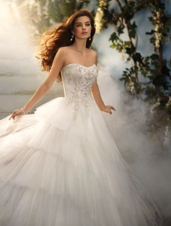 Ball gown wedding dresses disney fairy tale weddings by for Fairytale ball gown wedding dresses
