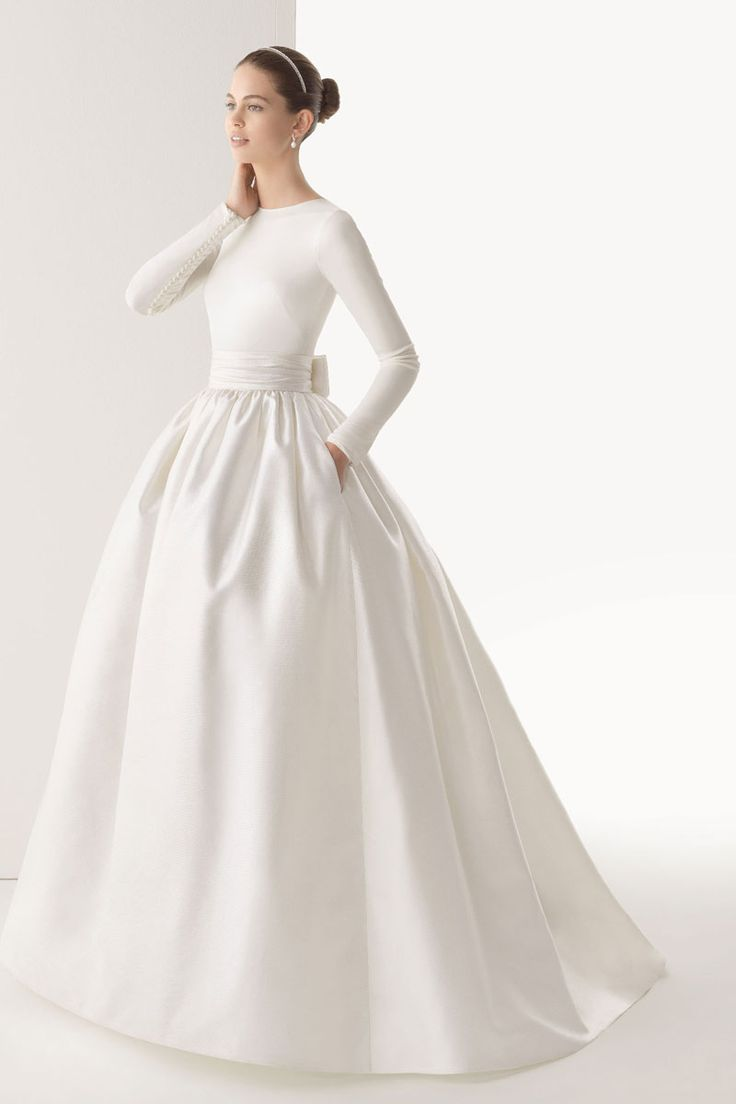 Ball gown wedding dresses elastic silk like satin for Satin silk wedding dresses