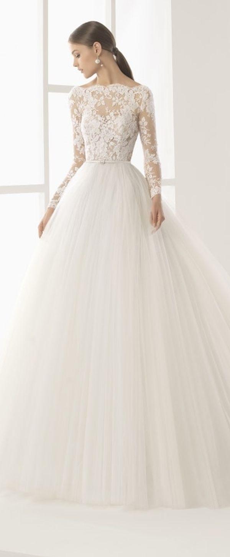 Best A Line Wedding Dresses Amazing Tulle Bateau