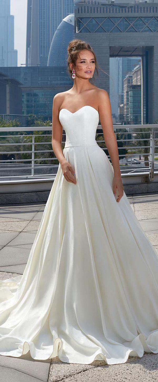 Best a line wedding dresses modest taffeta sweetheart for Aline wedding dress sweetheart neckline