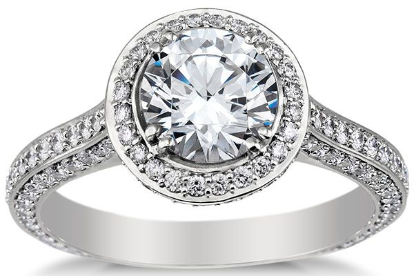 engagement rings heirloom halo micropav233 diamond