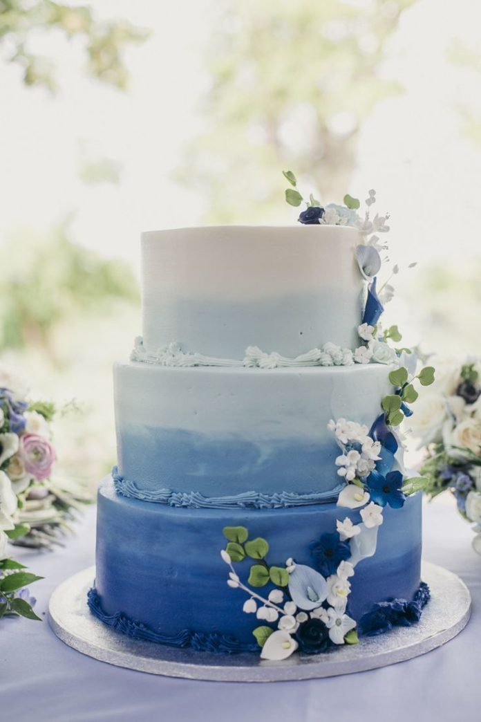 blue ombre wedding cake wedding cakes blue ombre wedding cake cake 11997