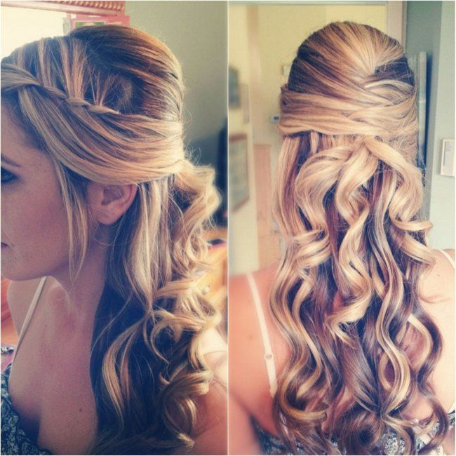 Wedding Hairstyle For Long Hair Bridal Half Updo Wedding