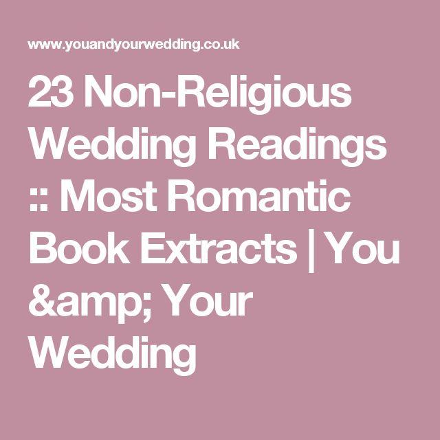 Wedding Quotes : 23 Non-Religious Wedding Readings :: Most