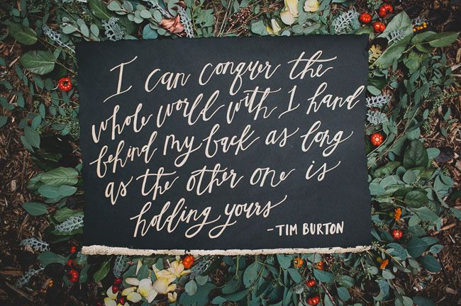 Wedding Quotes I Can Conquer The Whole World With One Hand Behind