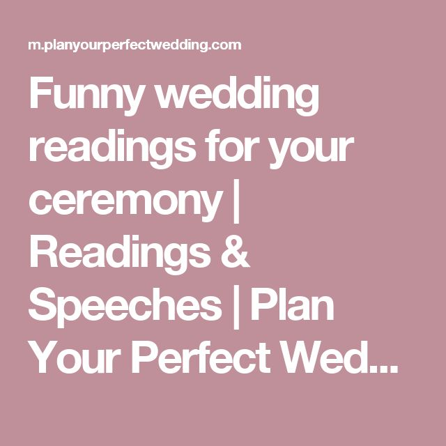 Wedding Quotes Funny Wedding Readings For Your Ceremony