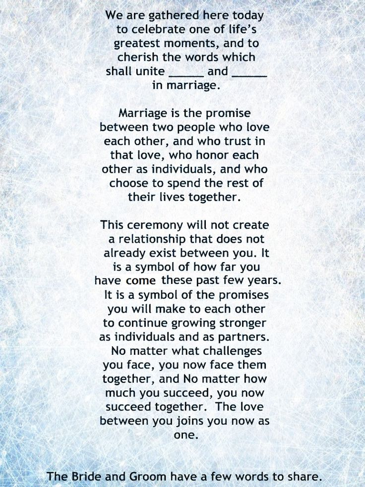 Wedding Quotes : My Non-Religious, Short and Sweet Wedding ...