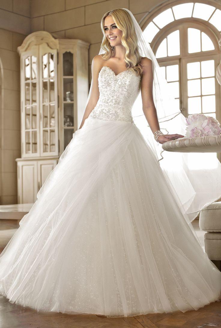 Ball gown wedding dresses 5828 by stella york designer for Beaded wedding dress designers