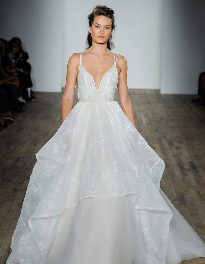 Ball Gown Wedding Dresses : Fall in love with this deep ...
