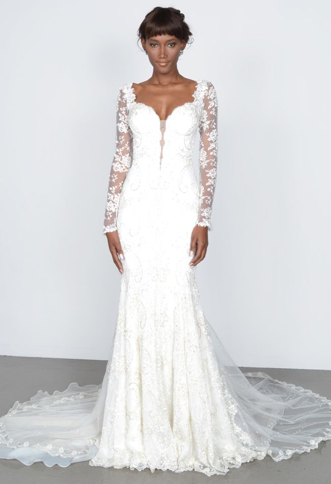 Sheath wedding dress galia lahav spring 2015 the knot for Wedding dresses the knot
