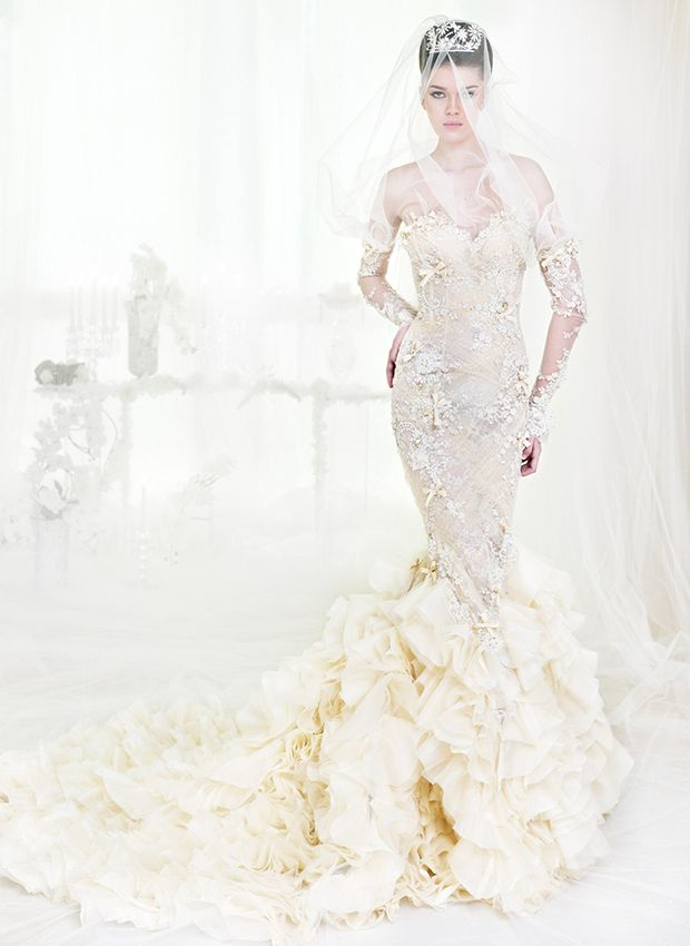 Sheath wedding dress haute couture wedding dresses by for Chanel haute couture price range