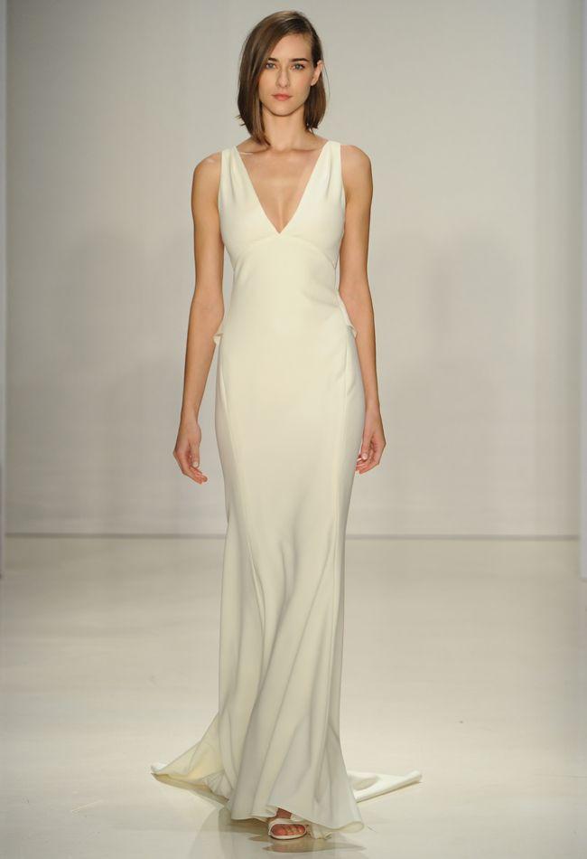 Sheath Wedding Dress : V-neck Sheath Wedding Dress ...