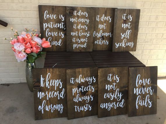 Wedding Quotes Love Is Patient Love Is Kind Aisle Signs