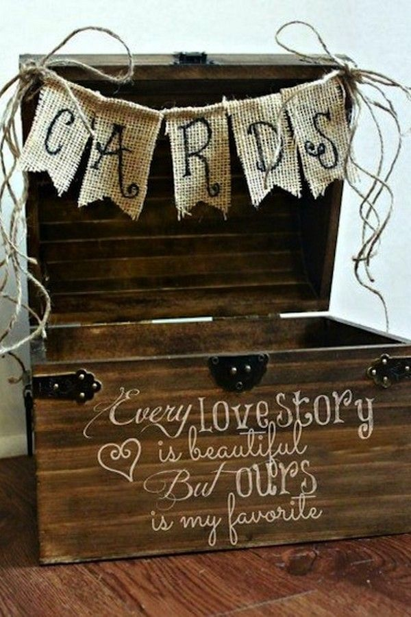 Wedding Quotes Rustic Wooden Wedding Gift Card Box Ideas