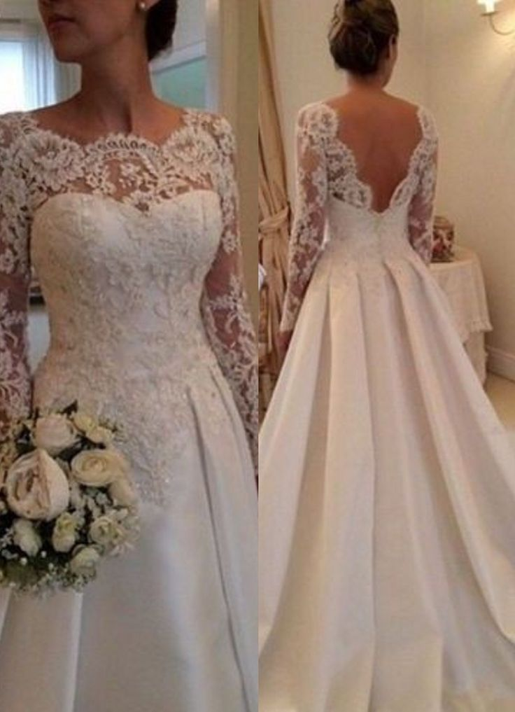 ball gown wedding dresses elegant illusion long sleeve wedding dress with lace appliques. Black Bedroom Furniture Sets. Home Design Ideas