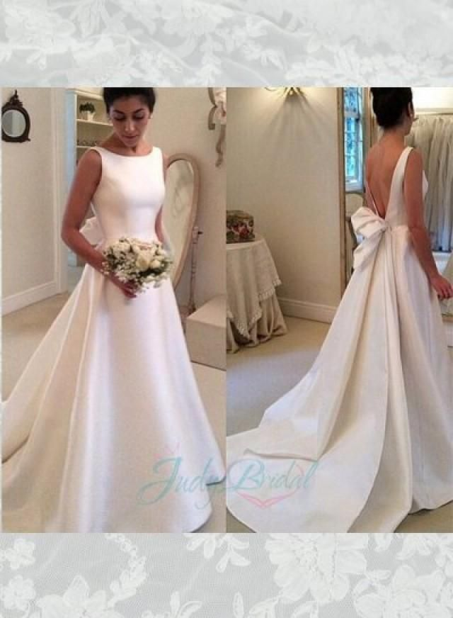 Ball gown wedding dresses jol239 simple bateau neck plain satin ball gown wedding dresses junglespirit Gallery