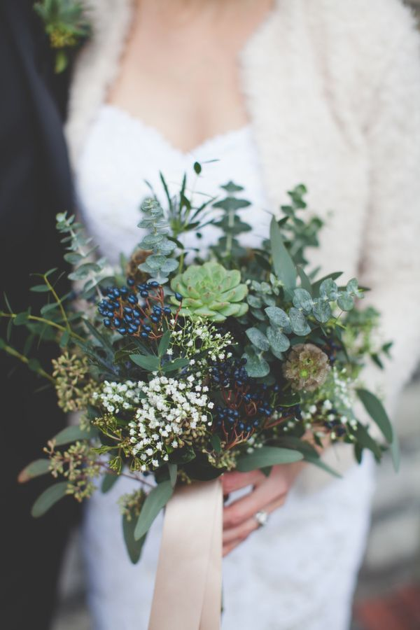 Wedding Bouquets Bouquets With Succulents And Eucalyptus Photo
