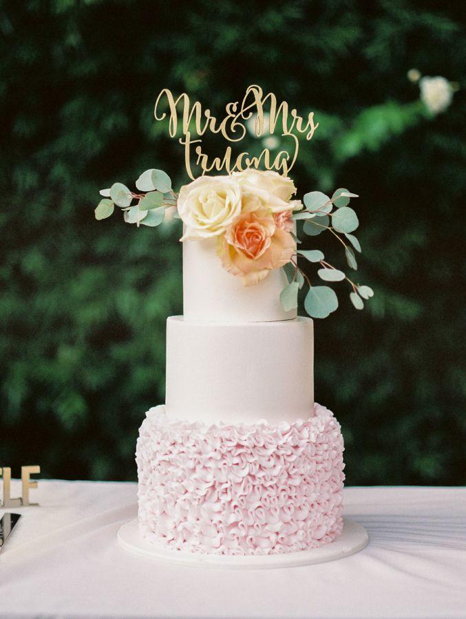 Wedding Cakes Romantic Summer Wedding At Franciscan Gardens Photograph