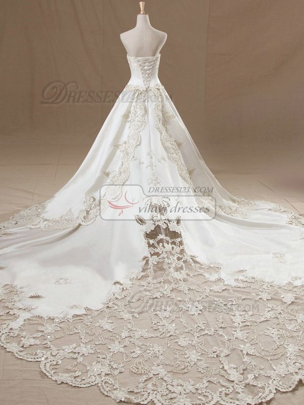Ball gown wedding dresses 100 tailor made a line tube for Tailor made wedding dress