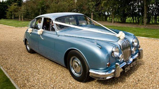 Bride S Cars Something Blue V8 Classic Daimler 25 In