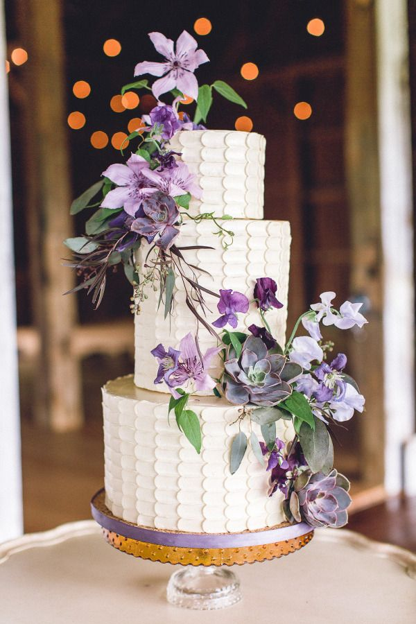 wedding cake style me pretty wedding cakes succulent and lavender hued flowers www 25800