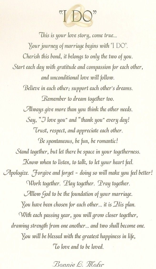 Wedding Quotes : I DO Wedding Card by Bonnie Mohr Studio ...