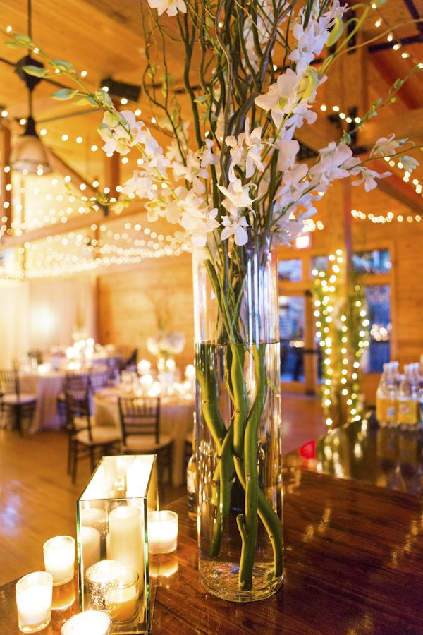 Wedding quotes tall white centerpiece for maine