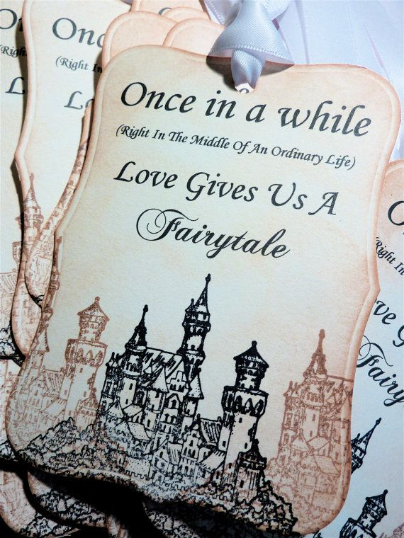 Wedding Quotes : Fairytale Love Tags Favor Tags Wedding Wish ...