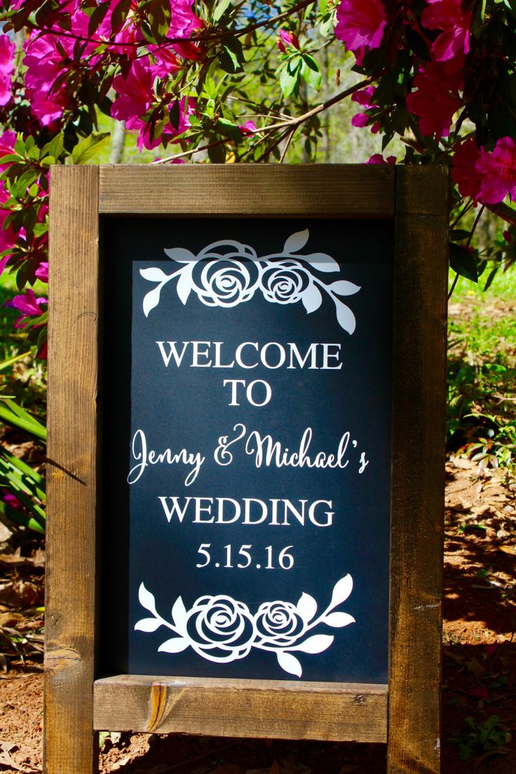 Description Rustic Chalkboard Sign ROSES Stands Alone Easel Welcome To Our Wedding