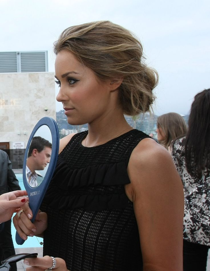 Wedding Hairstyle For Long Hair Lauren Conrad Messy Low Bun Dark
