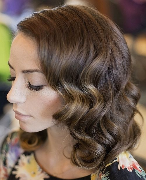 Wedding Hairstyle For Long Hair : wavy wedding hairstyle for medium ...