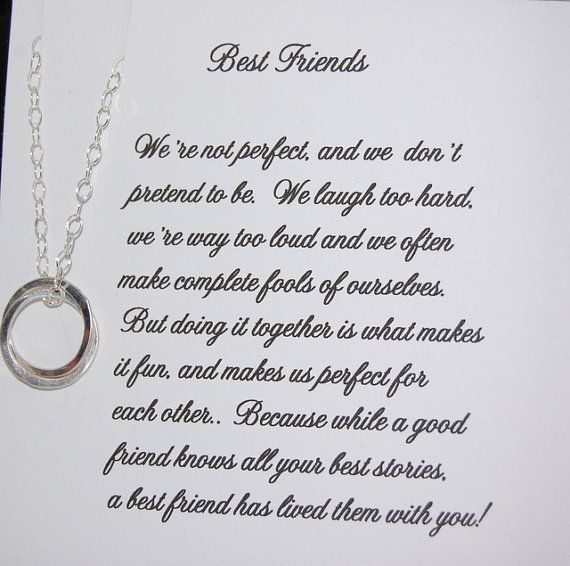 Wedding Quotes : BEST FRIEND Necklace, Bridesmaid Gift ...