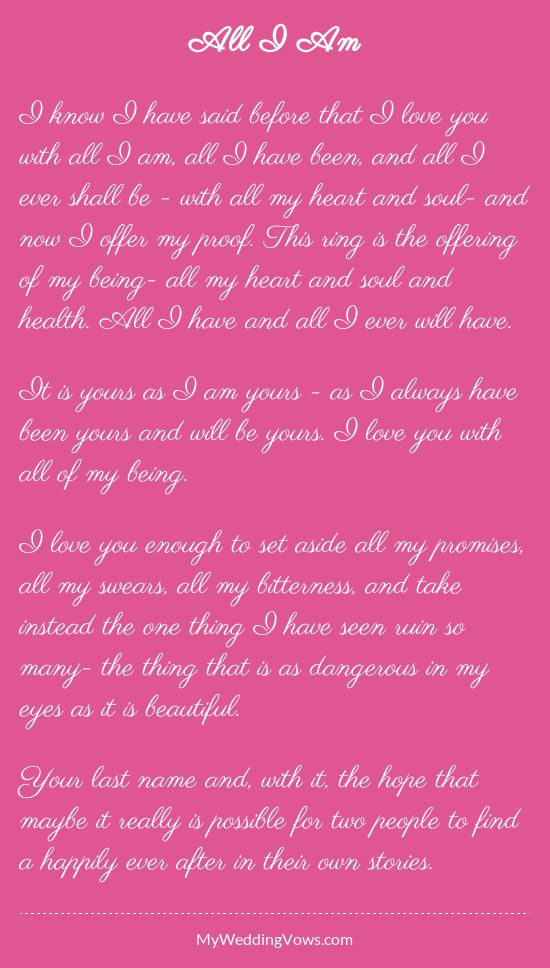 Wedding Quotes Read This Wedding Vow Hearted By Myweddingvows