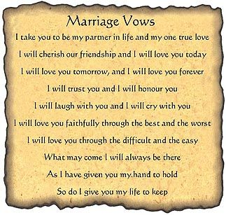 Wedding Quotes : Traditional wedding vows are too formal and serious ...
