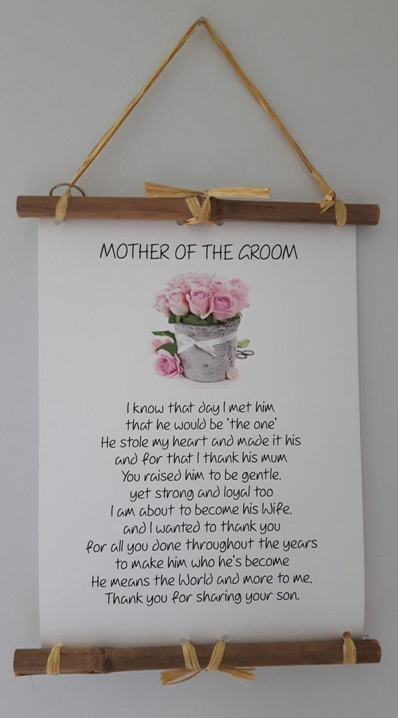 Wedding Quotes Mother Of Groom Gift Present From Bride I Knew The