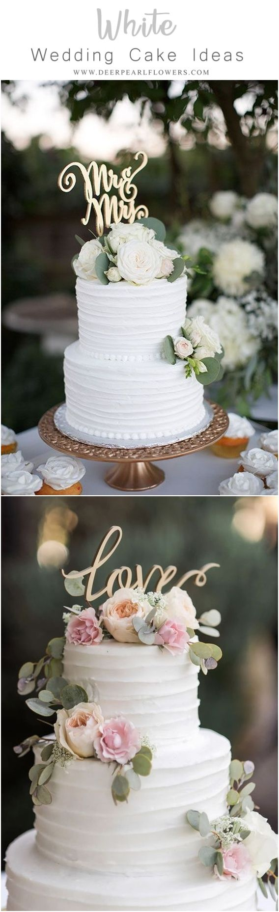Wedding Quotes : Elegant white wedding cake ideas - wedding ...